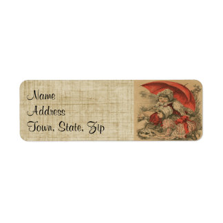 Victorian Child W/Bunnies Return Address Labels