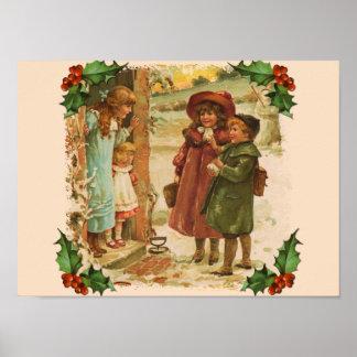 Victorian Children Christmas Break Poster