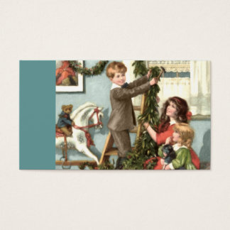Victorian Children Christmas Gift Tag