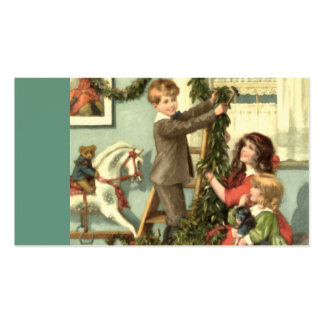 Victorian Children Christmas Gift Tag Pack Of Standard Business Cards