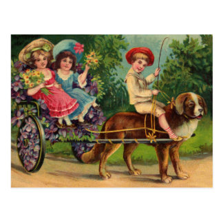 Victorian Children s Parade Vintage Postcard