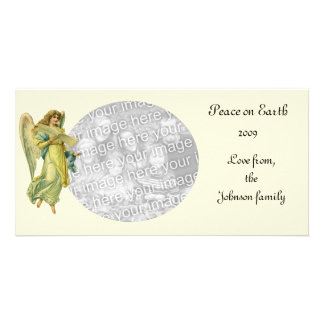 Victorian Christmas Angel, Gloria in Excelsis Deo Personalized Photo Card