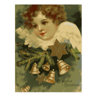 Victorian Christmas Angel Postcard