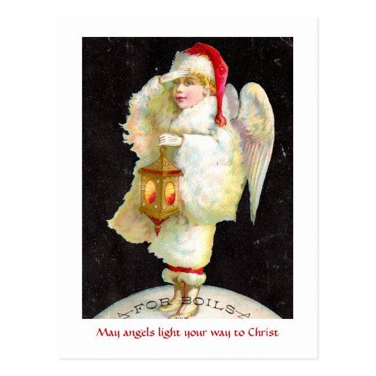 Victorian Christmas Angel Postcard