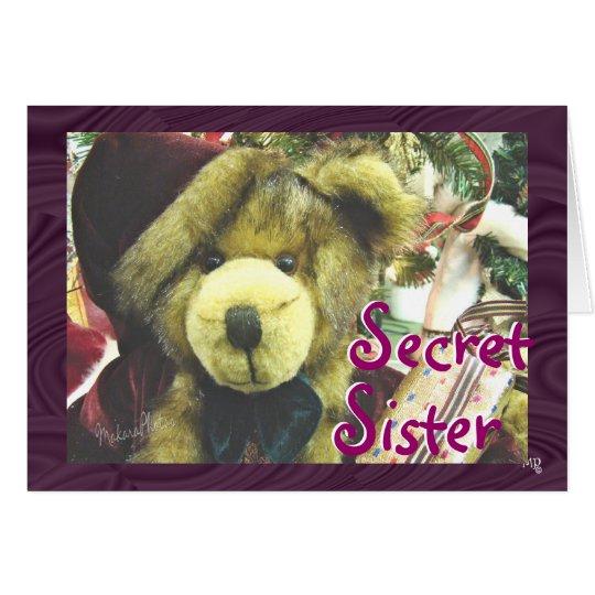 Victorian Christmas Bear - customise Card