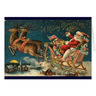Victorian Christmas Card - Santa