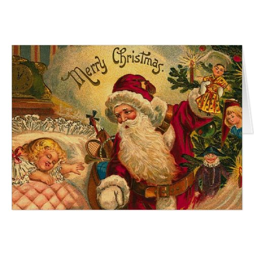 Victorian Christmas Dreams Greeting Card