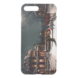 Victorian Christmas Eve Party Mansion Sleigh Snow iPhone 7 Plus Case