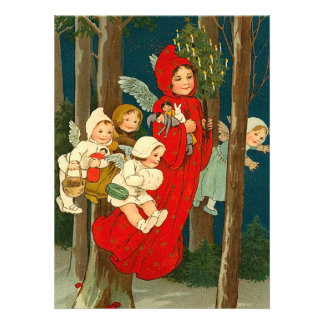 Victorian Christmas Faeries Card