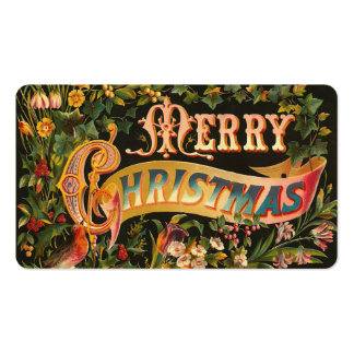 Victorian Christmas Gift Tags or Mini Greetings Business Card