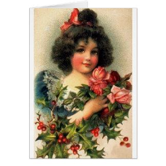 Victorian Christmas Greeting Card