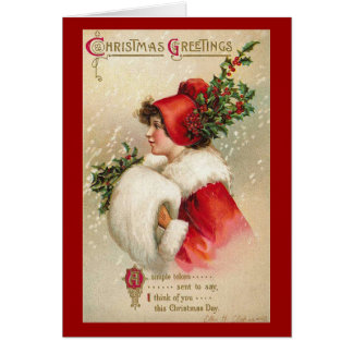 Victorian Christmas Greetings Card