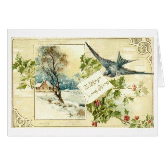 Victorian Christmas Greetings Card
