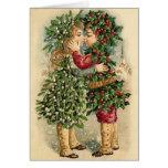 Victorian Christmas Kiss Card