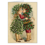Victorian Christmas Kisses Card