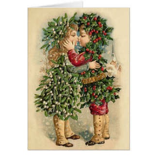 Victorian Christmas Kisses Card