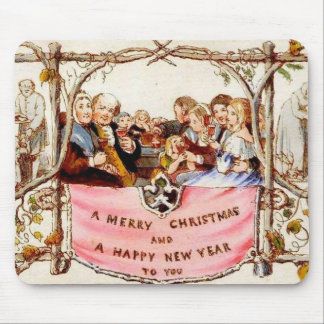 Victorian Christmas Mouse Pad