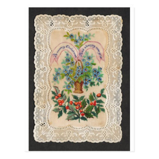 Victorian Christmas New Year Greeting Card 1870 Post Card