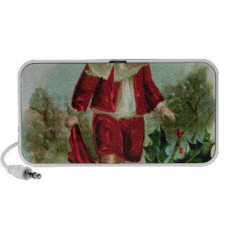 Victorian Christmas postcard depicting a boy iPhone Speaker