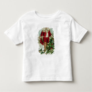 Victorian Christmas postcard depicting a boy Toddler T-Shirt