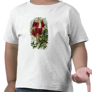 Victorian Christmas postcard depicting a boy Tshirt