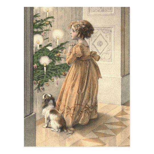 Victorian Christmas Retro Vintage Holiday Postcard