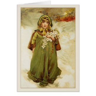 Victorian Christmas Roses Card