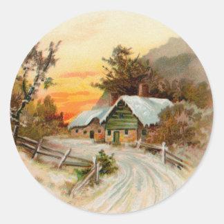 Victorian Christmas sticker
