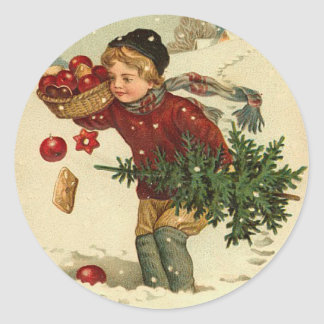 Victorian Christmas Stickers for your cards