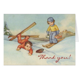 Victorian Christmas Thank you Card
