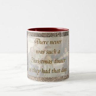 Victorian Christmas Two-Tone Mug