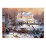 Victorian Christmas Winter Scene Postcards
