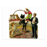 Victorian Circus Dogs, Trainer Clown Post Cards