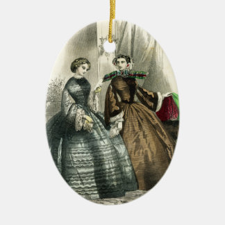 Victorian Civil War Women Fancy Ladies Christmas Ornament