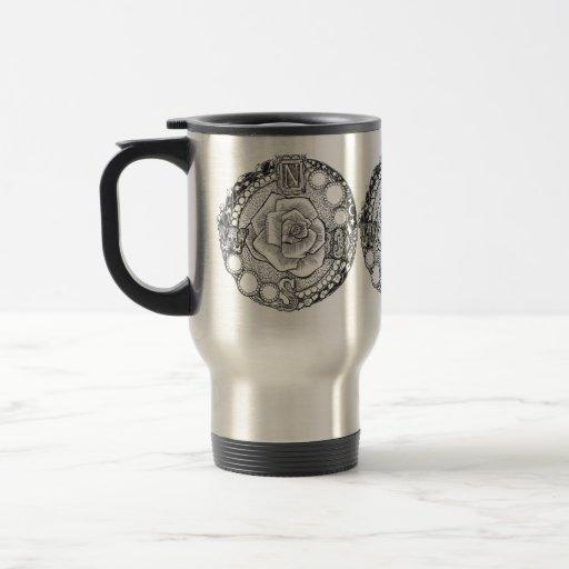Victorian Compass Rose Coffee Mug