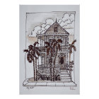 Victorian Conch House   Key West, Florida Poster