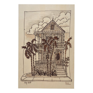 Victorian Conch House | Key West, Florida Wood Print