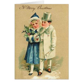 Victorian Couple Christmas Card
