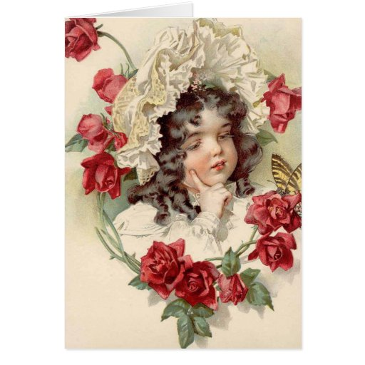 Victorian cutie greeting cards