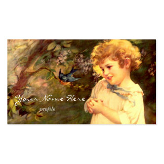 Victorian cutie with birds pack of standard business cards