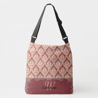 Victorian Damask Monogram Crossbody Bag