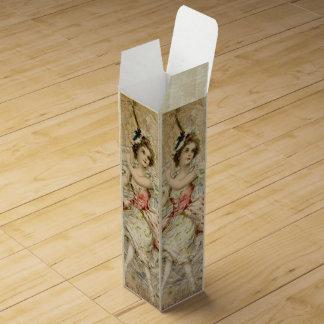 Victorian Dancing Girl Sheet Music Wine Gift Box