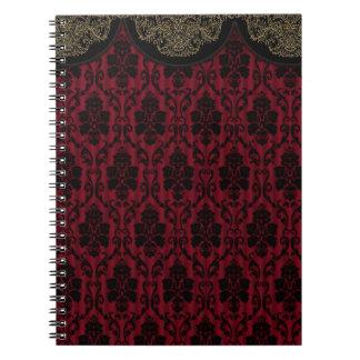 Victorian decoration spiral notebook