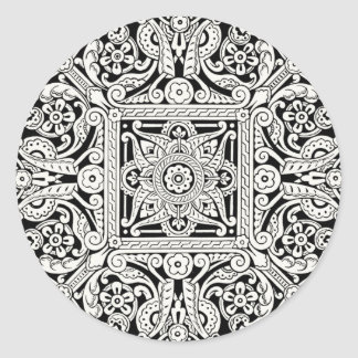 Victorian Decorative Design Pattern Round Sticker