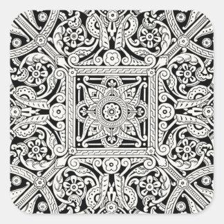 Victorian Decorative Design Pattern Square Sticker