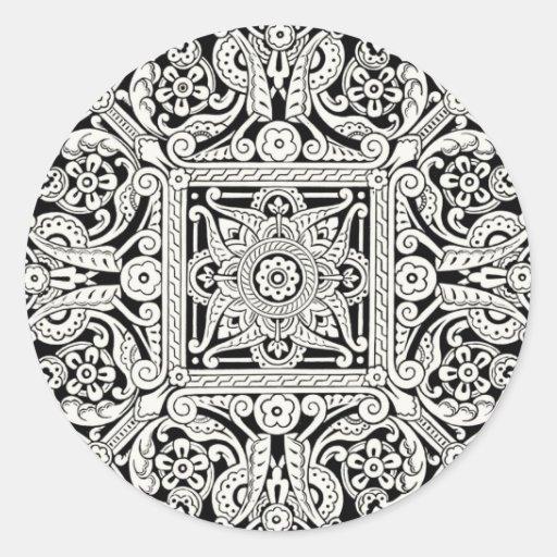 Victorian Decorative Design Pattern Sticker