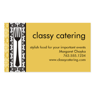 victorian decorative fork chef catering biz card pack of standard business cards