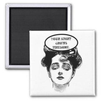 Victorian Diva Humor Square Magnet