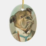 Victorian Dog Christmas Ornament