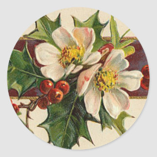 Victorian Dogwood Christmas sticker